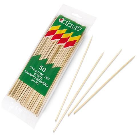 GiViItalia 50 Stecconi Per Spiedini In Bamboo Naturale