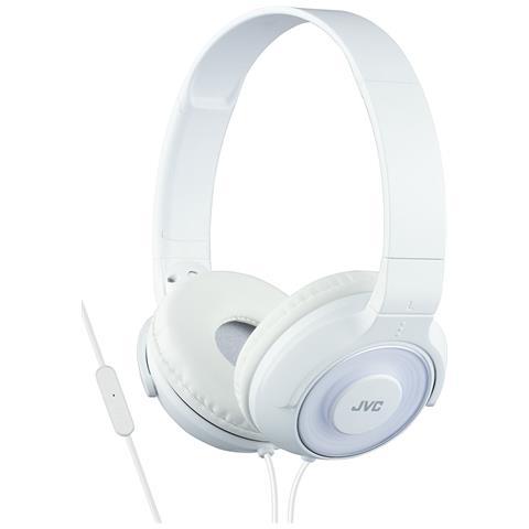 JVC Cuffie Leggere ad Alta Qualità con Microfono e Telecomando colore Bianco