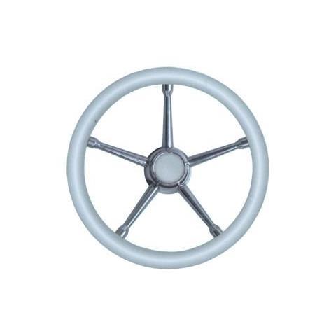Volante A inox / bianco 350 mm