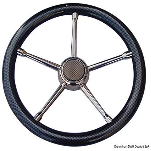Volante A inox / carbonio 350 mm