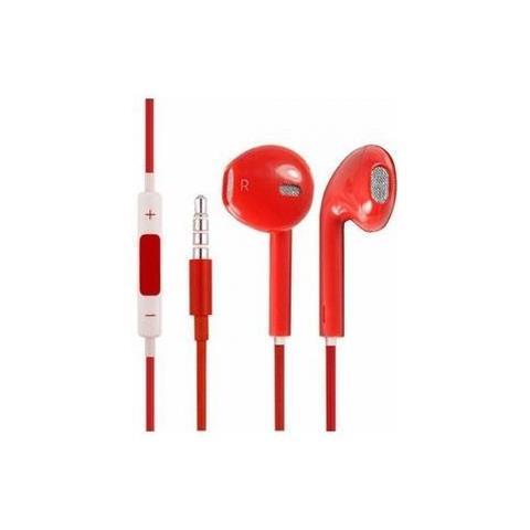 NetworkShop Cuffie Auricolari Con Microfono Compatibili Iphone 5/5s / 6/6s / ipod / ipad Rossi