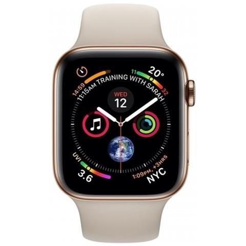 Watch Series 4 40 mm GPS + Cellulare Impermeabile Memoria 16GB Bluetooth con Cinturino Fluoroelastomero in Oro Sabbia