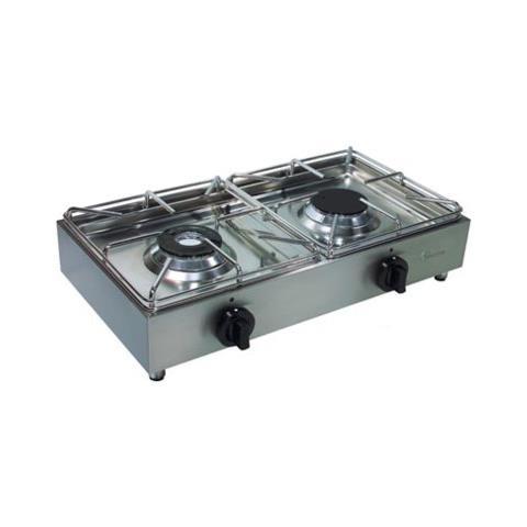 Fornellone A Gas Professionale 2 Fuochi Cm 62x33x15 Rs3295