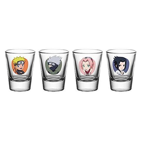 Naruto Shippuden - Chibi (set 4 Bicchieri Piccoli)