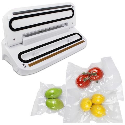 Macchina Sottovuoto Per Alimenti, Imballatrice Di Alimenti, Bianco, Con 5 Borse, Potenza: 150 W