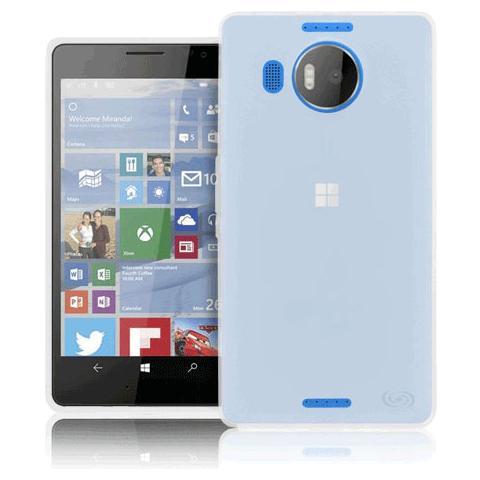 FONEX Pixel Cover in Morbido TPU con Retro Satinato per Microsoft Lumia 950 XL Colore Trasparente