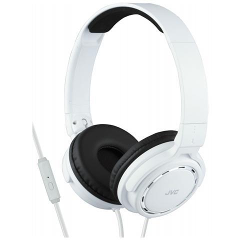 JVC HA-SR525-W, Stereofonico, Padiglione auricolare, Bianco, Cablato, Sovraurale, 10 - 25000 Hz