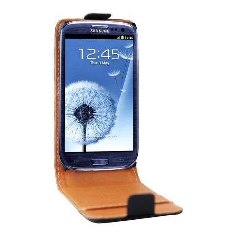 SWISS CHARGER Custodia X Samsung Galaxy Siii Scp10037 Swiss Charger In Vera Pelle Nera