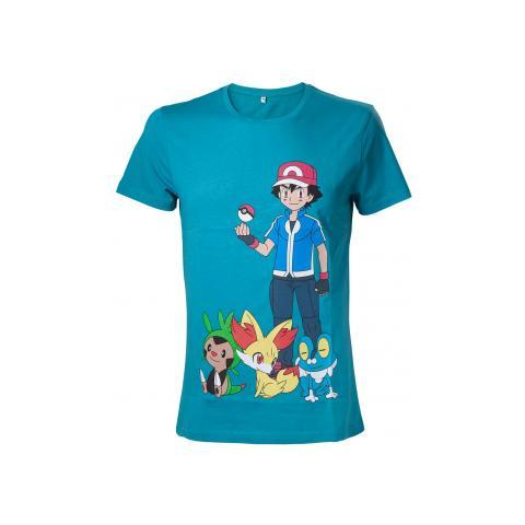 BIOWORLD Pokemon - Green With Print (T-Shirt Unisex Tg. M)