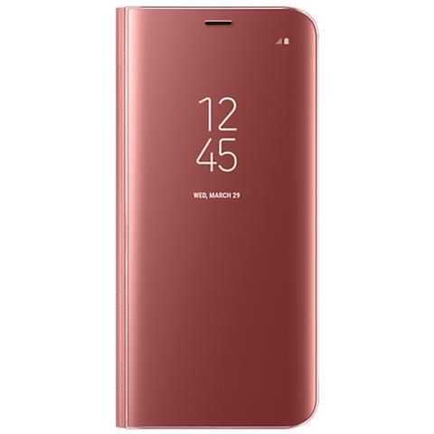 SAMSUNG Custodia Clear View Standing per Galaxy S8 Plus Colore Rosa