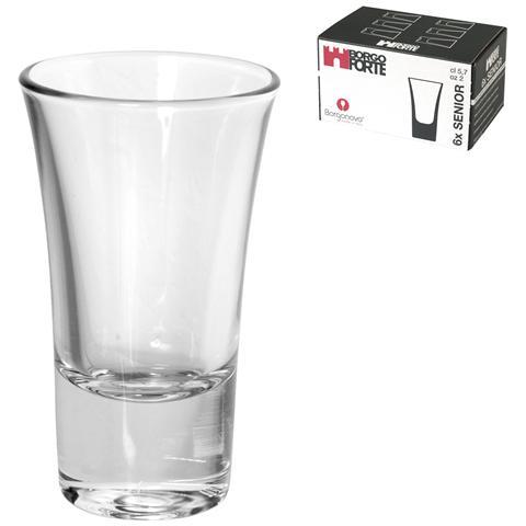 Set 6 Bicchiere Vetro Senior Rigo Cl5,7