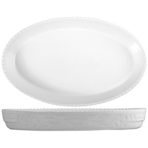 Saturnia Pirofila Ovale Porcellana Cm45 Strumenti Da Cucina
