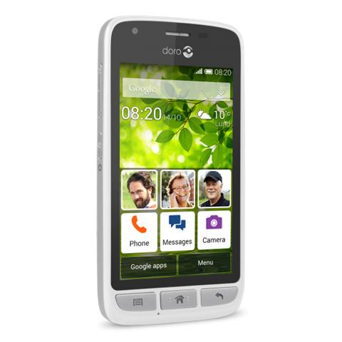"Doro Liberto 820 Mini Bianco Display 4"" Dual Core Storage 4Gb +Slot MicroSD Wifi Fotocamera 5Mpx Android -Tim Italia"