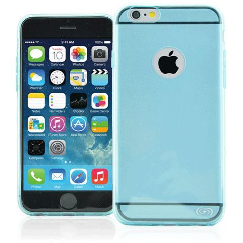 FONEX Inv Cover Ultra Sottile 0,2 mm in Morbido TPU per iPhone 6/6S Colore Blu Trasparente
