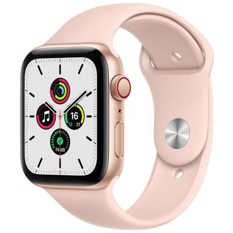 Apple Watch Se Gps + Cellular Alluminio Color Oro 44 Mm Cinturino Sportivo Rosa