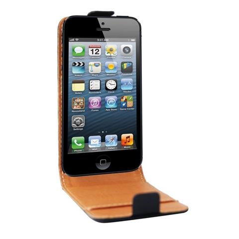 SWISS CHARGER CUSTODIA X APPLE IPhone 5 SCP10038 SWISS CHARGER IN VERA PELLE NERA