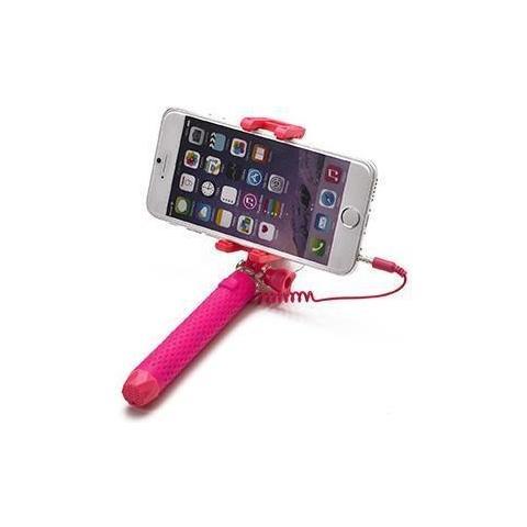 """CELLY Mini Selfie Stick compatibile con smartphone fino a 5.5"""" per una lunghezza massima di 70cm - Rosa"""
