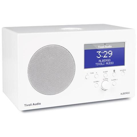 TIVOLI AUDIO Radio Albergo Poratile Digitale AM / DAB / DAB+ / DMB / FM Colore Bianco