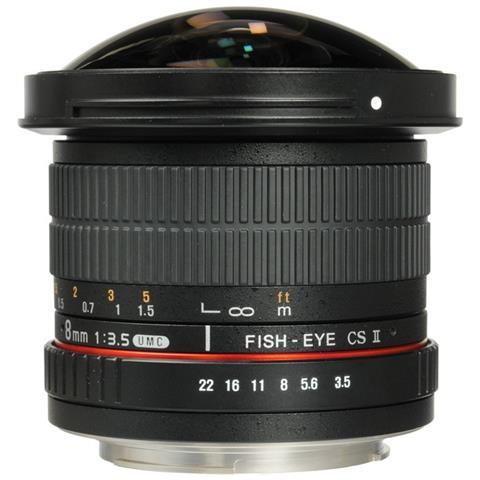 8mm F / 3.5 Umc Cs Ii Fisheye Pentax Garanti 2 Ans