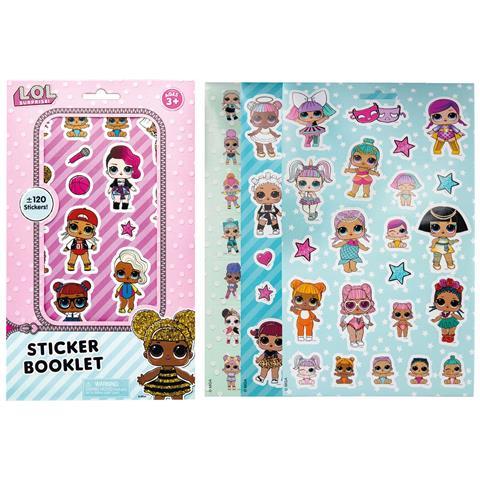 Joy Toy L. o. l. Surprise - Libretto Di Sticker - 5 Fogli Con Ca. 120 Sticker 15x0,2x25 Cm