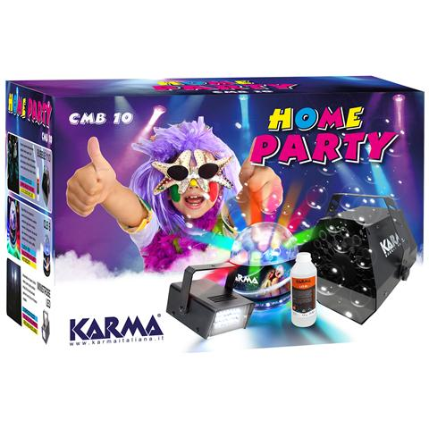KARMA CMB Kit Home Party Macchina Bolle di Sapone e Lampada Stroboscopica