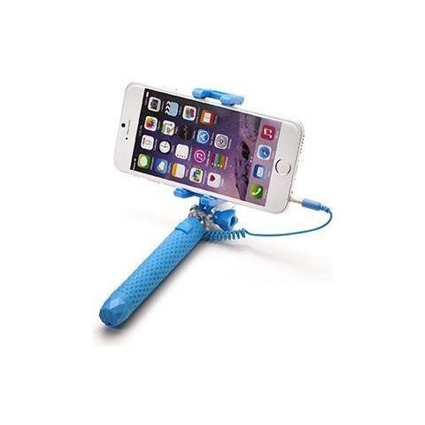 """CELLY Mini Selfie Stick compatibile con smartphone fino a 5.5"""" per una lunghezza massima di 70cm - Blu"""