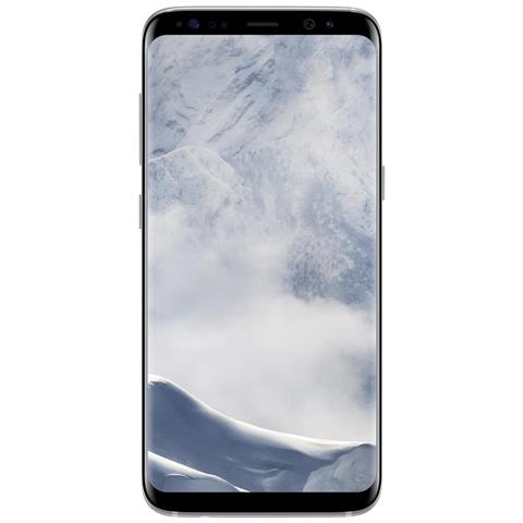"SAMSUNG Galaxy S8 Argento 64 GB 4G/LTE Impermeabile Display 5.8"" Quad HD Slot Micro SD Fotocamera 12 Mpx Android Tim Italia"