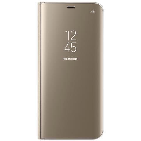 SAMSUNG Custodia Clear View Standing per Galaxy S8 Colore Oro