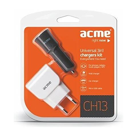 ACME CH13 Kit incl. Car + Wall Charger and Micro USB Cable