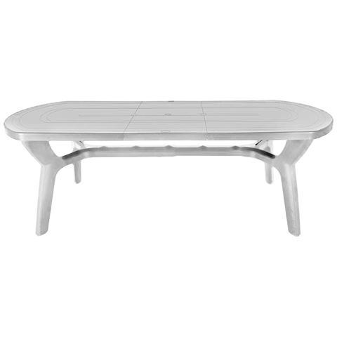 Tavolo Da Giardino Allungabile In Plastica / resina Bianco 180/230 Cm