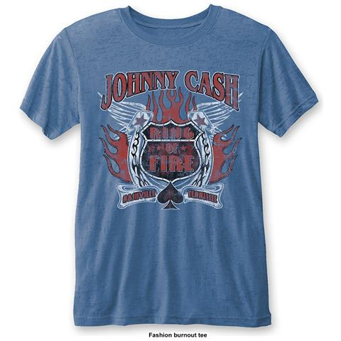 ROCK OFF Johnny Cash - Ring Of Fire (T-Shirt Unisex Tg. M)