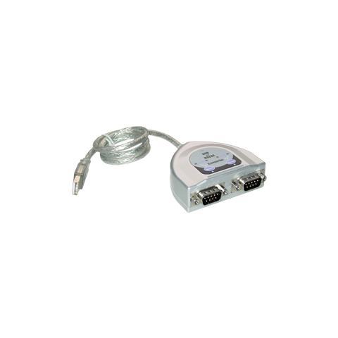 MCL Convertisseur USB / SERIE RS232 - 2 Ports USB RS-232 cavo di interfaccia e adattatore