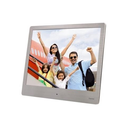 Cornice digitale ''Steel'' Basic, 8'' (20,32 cm) , 4:3,1024x768, SD, SDHC, MMC, porta USB,...