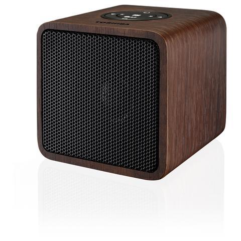TOSHIBA Sistema Audio Portatile TY-WSP52 Potenza 2Watt Bluetooth NFC ingresso AUX Legno