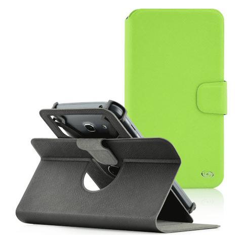 """FONEX Denim Window Custodia Universale per Dispositivi fino a 4"""" Colore Verde"""