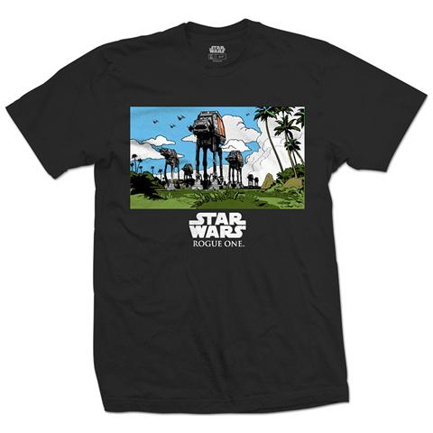ROCK OFF Star Wars - Rogue One At-At March Black (T-Shirt Unisex Tg. L)