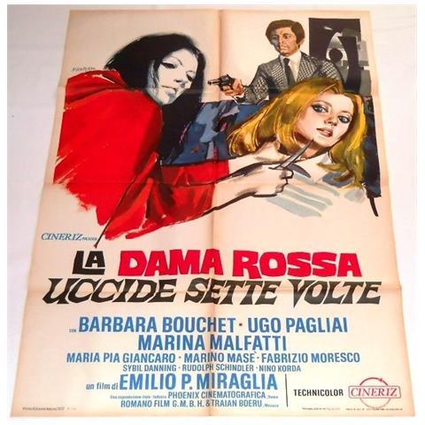 Vendilosubito Manifesto Originale Del Film La Dama Rossa Uccide Sette Volte 1972