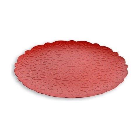 Vassoio Rotondo Dressed Rosso