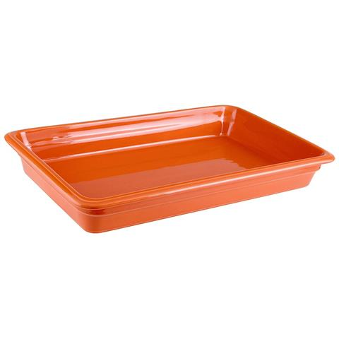 Bacinella Gn 1/1 Cm 53x32x6,5 Porcellana Arancio