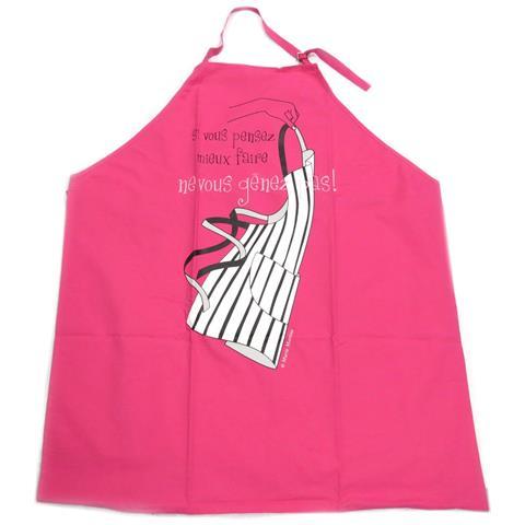 creatore grembiule 'cucina francese' non essere timido - rosa - [ p2057]