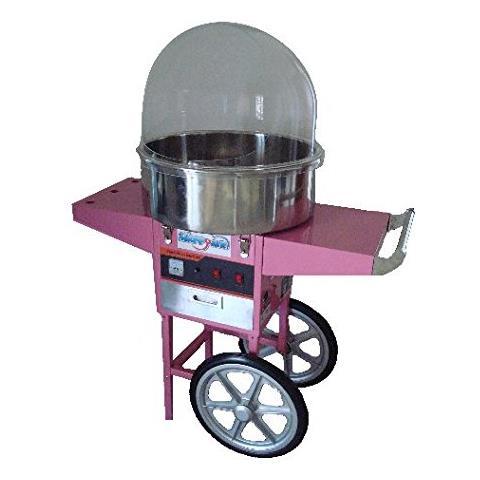 Macchina Per Lo Zucchero Filato Professionale Con Cupola E Carrello Happy Air