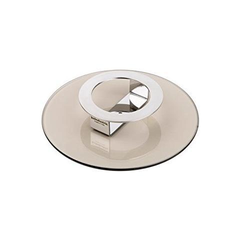 Coperchio / Alzata in Vetro Temprato Color Bronzo Diametro 20cm - Linea Foodwear