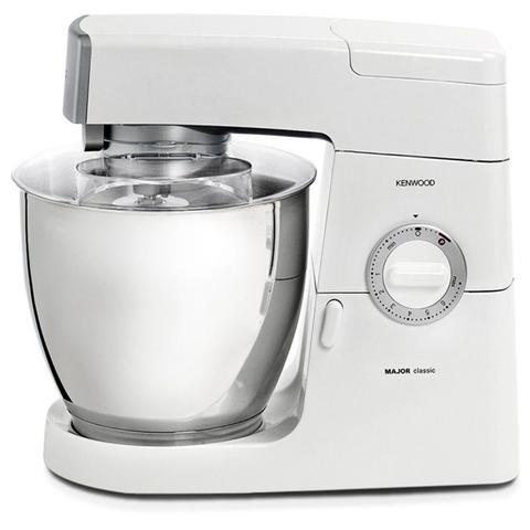 KM636 Classic Major Robot da Cucina Capacità 6.7 Litri Potenza 900 Watt Colore Bianco / Argento