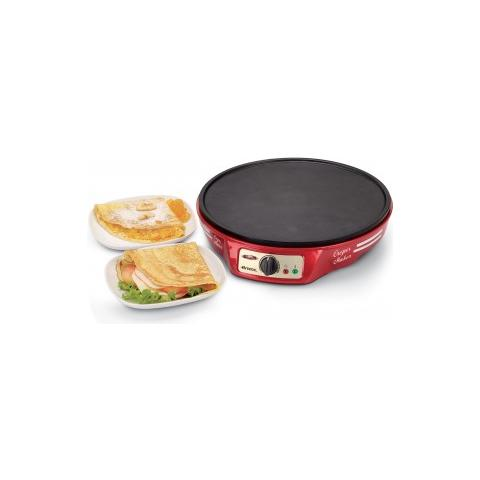 Crepes Maker Party Time Potenza 1000 Watt Colore Rosso