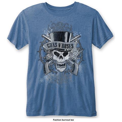 ROCK OFF Guns N' Roses - Faded Skull Blue (T-Shirt Unisex Tg. S)