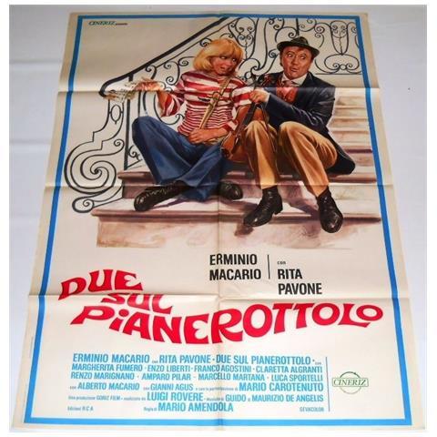 Vendilosubito Manifesto A2 Originale Del Film Due Sul Pianerottolo 1976