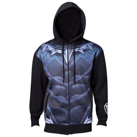 BIOWORLD Black Panther - Sublimated Suit Black (Felpa Con Cappuccio Unisex Tg. M)