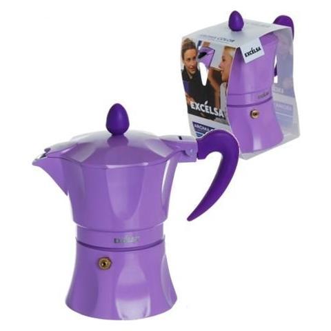 Caffettiera 3 Tazze - Modello Aroma Color Lilla