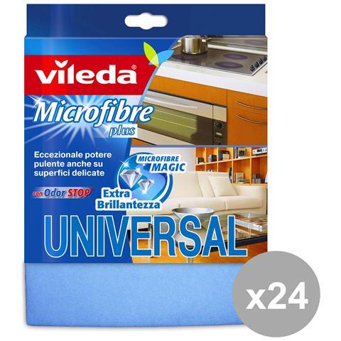 Vileda Set 24 Panno Universal Plus Microfibra Attrezzi Pulizie