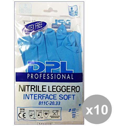 DPL Professional Set 10 Guanti Piatti Nitrile Anallergici S Gi